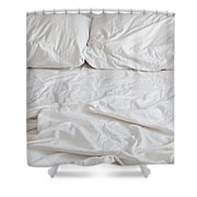 Empty Bed Shower Curtain