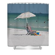 Empty Chairs Shower Curtain