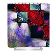 Empty Hearted Sky Shower Curtain