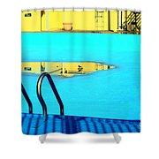 Empty Public Swimming Pool Bronx New York City Shower Curtain