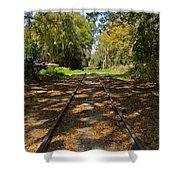 Empty Railroad Tracks Shower Curtain