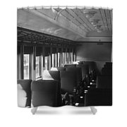 Empty Railway Coach Shower Curtain