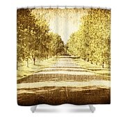Empty Road Shower Curtain