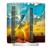 Empty Skies Sunset Shower Curtain by Nick Zelinsky