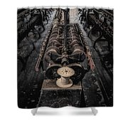 Empty Spool Shower Curtain by Susan Candelario