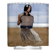 Empty Suitcase Shower Curtain