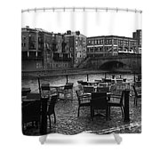 Empty Tables Shower Curtain