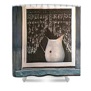 Enamel And Lace Shower Curtain