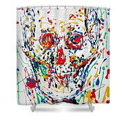 Enamels Skull Painting Shower Curtain
