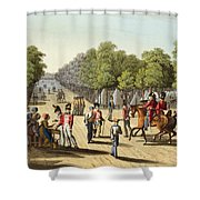 Encampment Of The British Army Shower Curtain