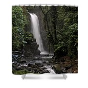Encantada Waterfall Costa Rica Shower Curtain
