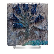 Enchanted Bluebells Shower Curtain