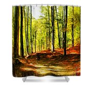 Enchanted Forest - Drawing  Shower Curtain