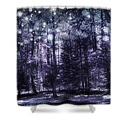 Enchanted Plum Forest Shower Curtain