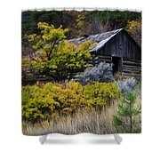 Enchanted Spaces Cabin In The Woods 2 Shower Curtain