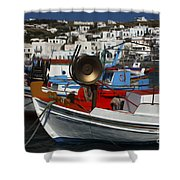Enchanted Spaces Mykonos Greece 2 Shower Curtain