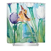 Enchanted With Divine Love Shower Curtain