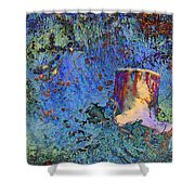 Enchanting Snow Forest Shower Curtain