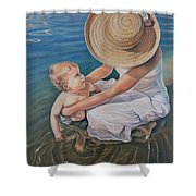 Encircled By Love Shower Curtain