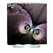Encounter - Digital Fractal Artwork Shower Curtain