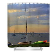 End Of Day At The Bay Shower Curtain