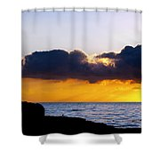 End Of Day On The Pacific Shower Curtain