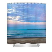 End Of The Blue Hour Shower Curtain by Steven Santamour
