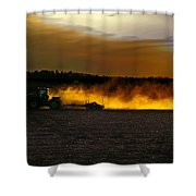 End Of The Day In The Field Shower Curtain