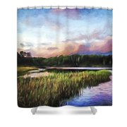 End Of The Day - Landscape Art Shower Curtain