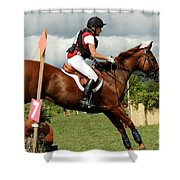 End Of The Jump Shower Curtain