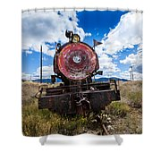 End Of The Line - Steam Locomotive Shower Curtain