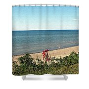 End Of The Season At Wendt Beach Park Shower Curtain