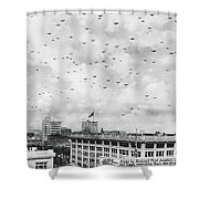 End Of Wwi Celebration Shower Curtain