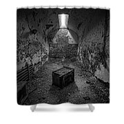 End Table Bw Shower Curtain