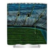 End Zone Lambeau Field Shower Curtain