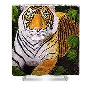 Endangered Bengal Tiger Shower Curtain