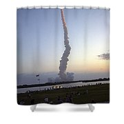 Endeavour Liftoff For Sts-59 Shower Curtain