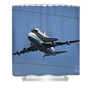 Endeavour Over Moffett Field Shower Curtain