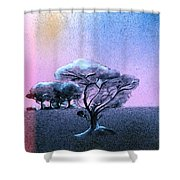 Ending Night Shower Curtain