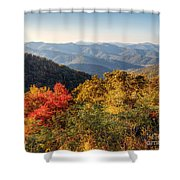 Endless Autumn Mountains Shower Curtain