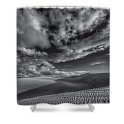 Endless Black And White Shower Curtain