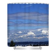Endless Clouds Shower Curtain