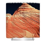 Endless Lines In Sandstone Shower Curtain