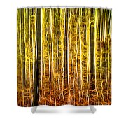Energy Of The Forest Autumn Color Shower Curtain
