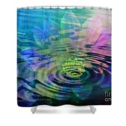 Energy Ripples Shower Curtain by PainterArtist FIN