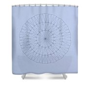 Energy Wave 20 Degree Frequency Shower Curtain