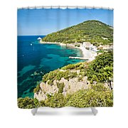 Enfola Beach - Elba Island Shower Curtain