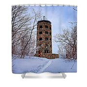 Enger Tower In Winter Shower Curtain