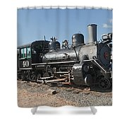 Engine 40 In The Colorado Railroad Museum Shower Curtain