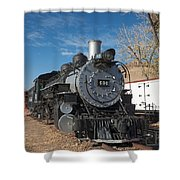 Engine 491 In The Colorado Railroad Museum Shower Curtain